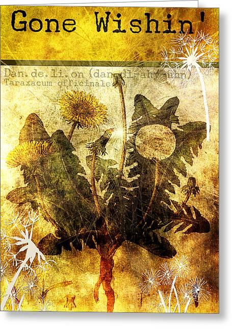 Wishes Mixed Media Greeting Cards - Gone Wishin Greeting Card by Bonnie Bruno