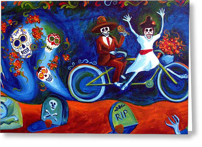 Janet Oh Greeting Cards - Gone With the Wind Day of the Dead Greeting Card by Janet Oh