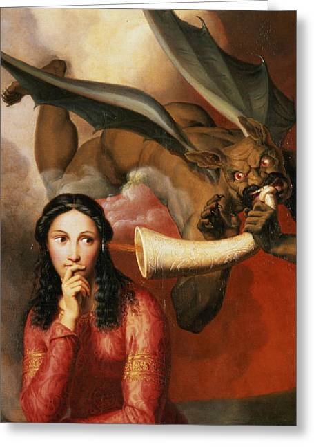 Considers Greeting Cards - Good and Evil Greeting Card by AJV Orsel