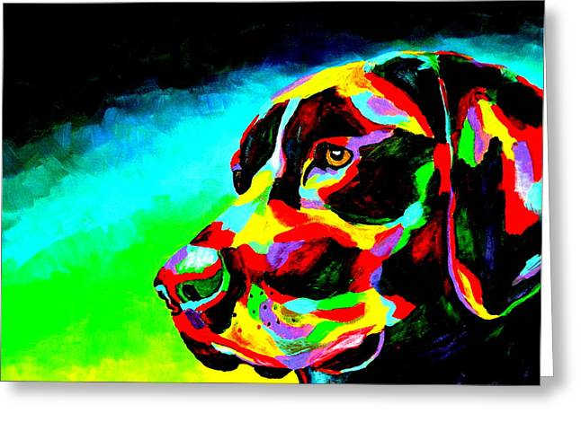 Black Labrador Retreiver Greeting Cards - Good Boy Greeting Card by Mike OBrien