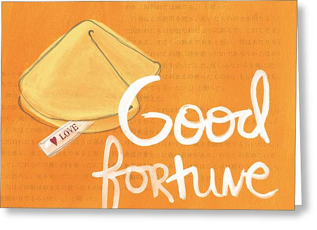Pop Mixed Media Greeting Cards - Good Fortune Greeting Card by Linda Woods