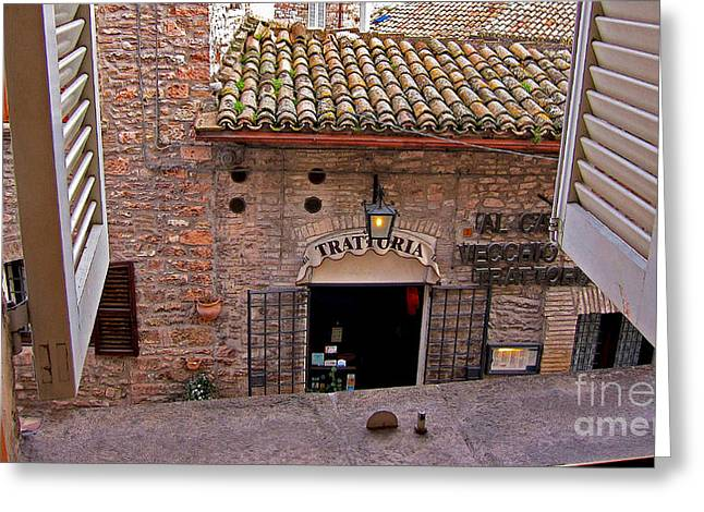 Trattoria Greeting Cards - Good Morning Italy Greeting Card by Jack Schultz