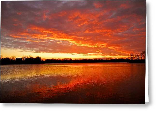 Spiegelung Greeting Cards - Good Morning Quebec ... Greeting Card by Juergen Weiss
