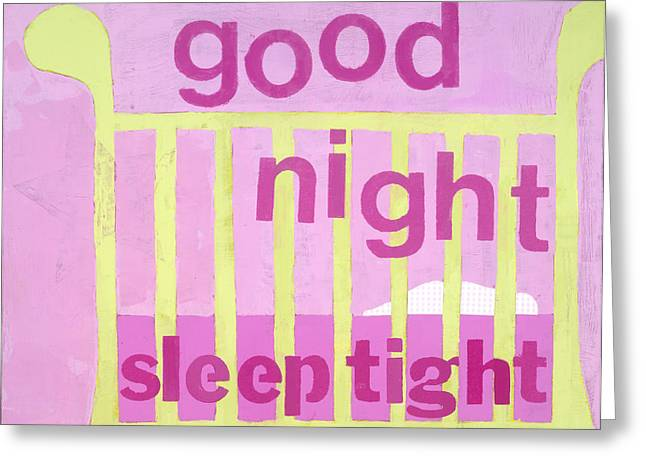Baby Room Greeting Cards - Good Night Baby Greeting Card by Laurie Breen