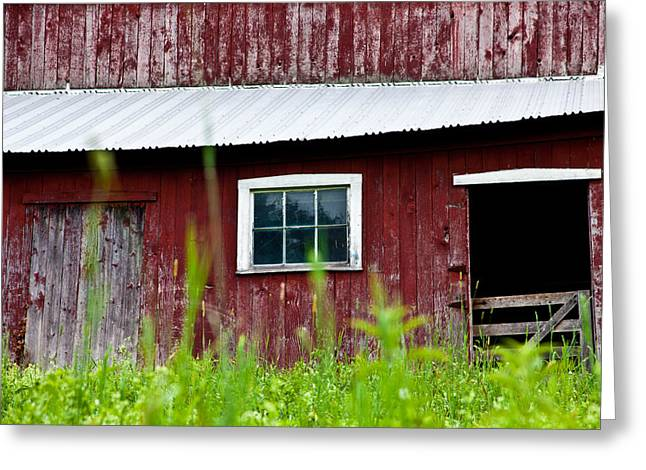 Red Roofed Barn Greeting Cards - Good Ole Red Barn Greeting Card by Karol  Livote