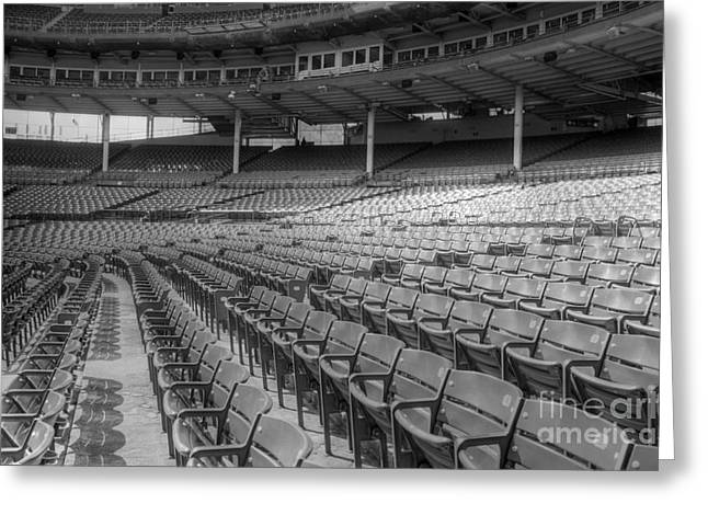 Wrigley Field Greeting Cards - Good Seats at Wrigley Greeting Card by David Bearden