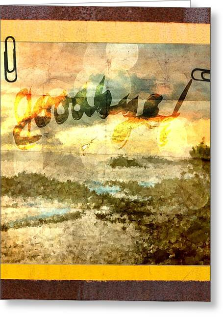 Seaside Digital Art Greeting Cards - Goodbye Greeting Card by Andrea Barbieri