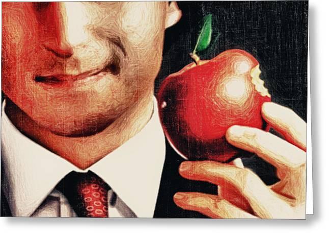 Goodbye Steve Jobs Greeting Card by Radu Aldea