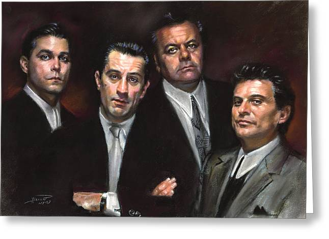 American Film Greeting Cards - Goodfellas Greeting Card by Ylli Haruni