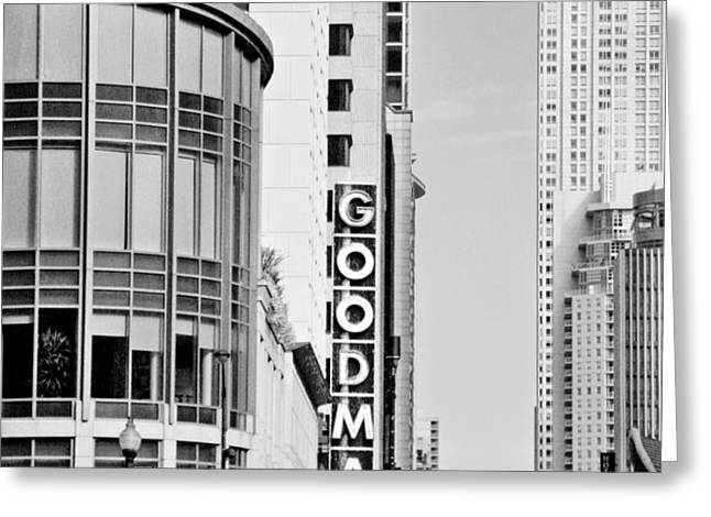 Goodman Theatre Center Chicago Greeting Card by Christine Till