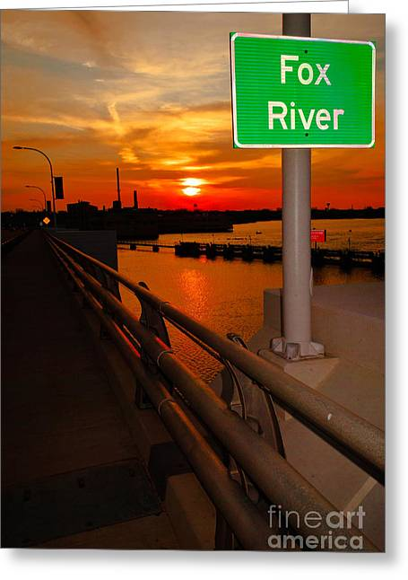 Fox River Greeting Cards - Goodnight Fox River Greeting Card by Shutter Happens Photography