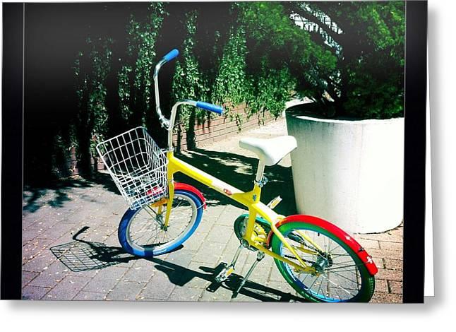 Mini Bike Greeting Cards - Google Mini Bike Greeting Card by Nina Prommer