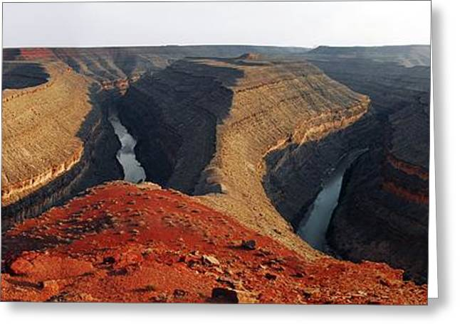 Incised Greeting Cards - Goosenecks Canyon Greeting Card by Pekka Parviainen