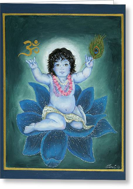 Gopala Greeting Cards - Gopala Greeting Card by Radha Flora Cloud