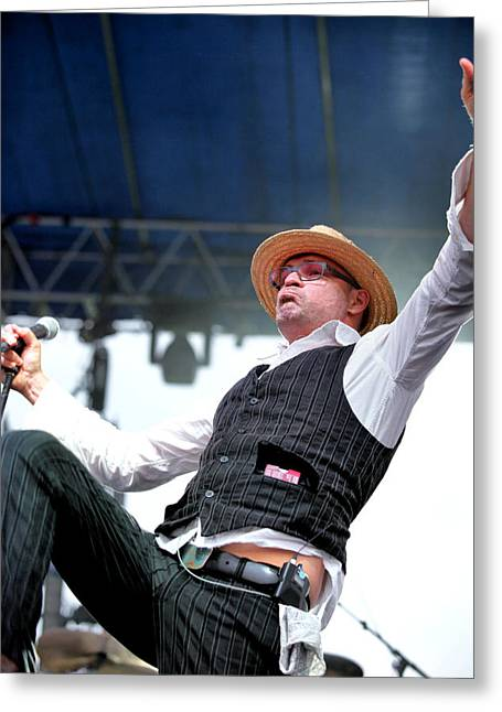 Straps Greeting Cards - Gord Downie of The Tragically Hip Greeting Card by David McDonald