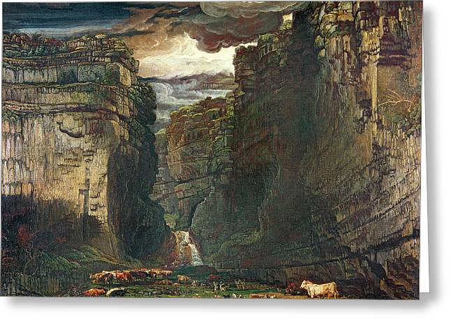 Crag Greeting Cards - Gordale Scar Greeting Card by James Ward