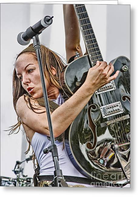 Live Music Greeting Cards - Gore Gore Girls Greeting Card by Ricky Schneider