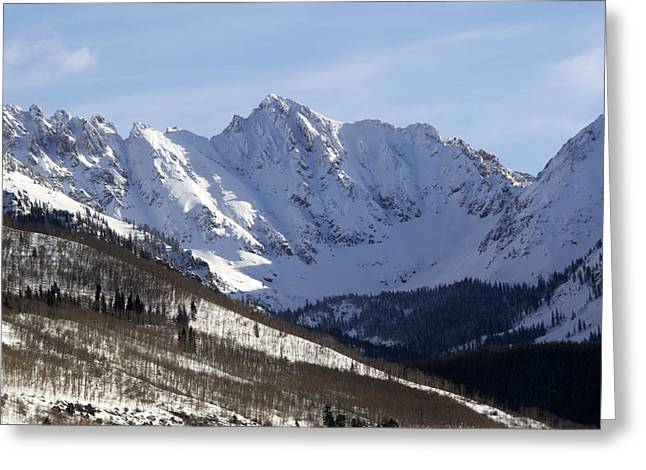 Rugged Terrain Greeting Cards - Gore Mountain Range Colorado Greeting Card by Brendan Reals