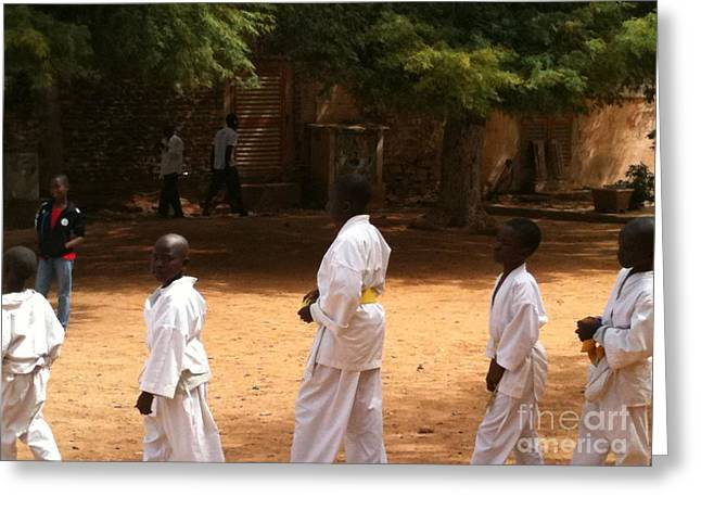 Goree Karate  Greeting Card by Fania Simon