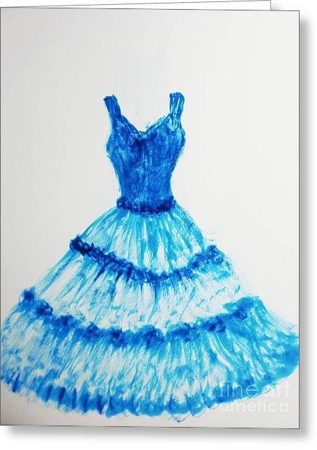 Turqouise Drawings Greeting Cards - Gorgeous Blue Greeting Card by Trilby Cole