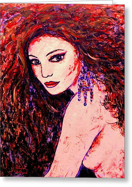 Eyebrow Greeting Cards - Gorgeous Woman Greeting Card by Natalie Holland