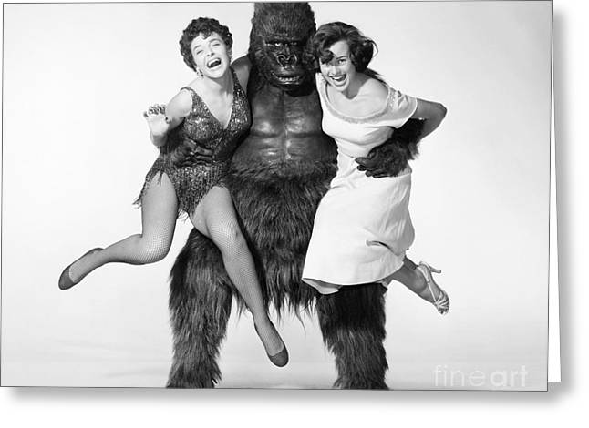 Monster Movies Greeting Cards - Gorilla At Large, 1954 Greeting Card by Granger