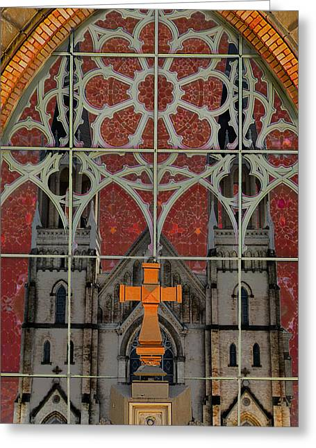 Gothic Cross Greeting Cards - Gothic Church 2 Greeting Card by Scott Hovind