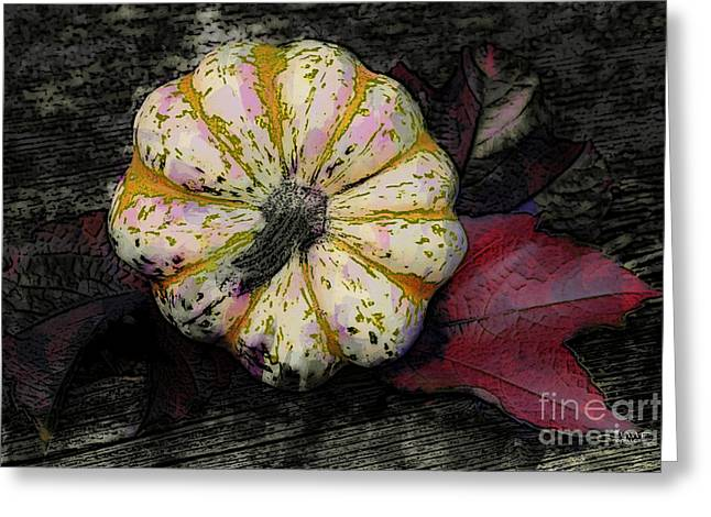 Postwork Greeting Cards - Gothic Pumpkin Greeting Card by Jutta Maria Pusl