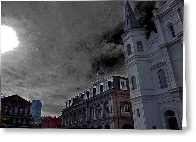 Suzanne Clark Greeting Cards - Gothic St Louis Cathedral Greeting Card by Suzanne Clark