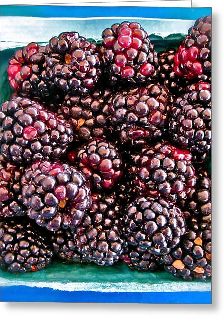 Black Berries Photographs Greeting Cards - Gotta have these Greeting Card by Gwyn Newcombe