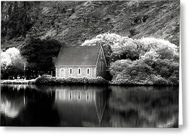 Gougane Barra Church Greeting Cards - Gougan Barra Greeting Card by Thomas Maya
