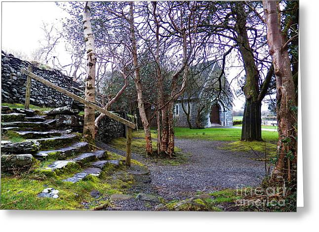 Gougane Barra Church Digital Art Greeting Cards - Gougane barra church cork ireland Greeting Card by Pat  J Falvey