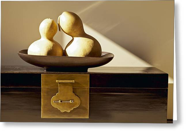 Gourds Still Life II Greeting Card by Kyle Rothenborg - Printscapes