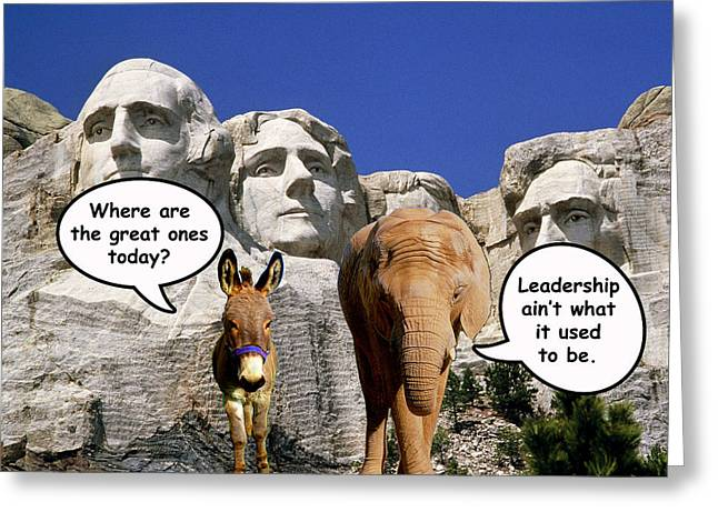 Republican Digital Art Greeting Cards - Government Leadership Greeting Card by Anthony Caruso