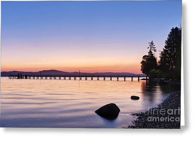 Bc Coast Greeting Cards - Government Pier at Dawn Greeting Card by Rob Tilley