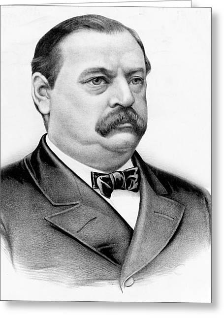 American Politician Greeting Cards - Governor Grover Cleveland - Twenty Second President of the USA Greeting Card by International  Images