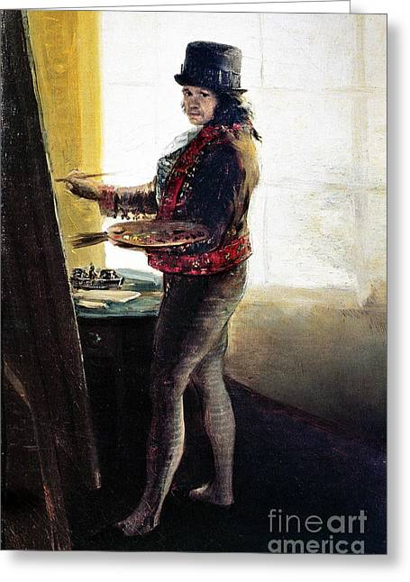 Self-portrait Photographs Greeting Cards - Goya: Self-portrait Greeting Card by Granger
