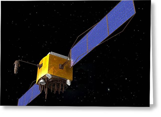 Gps Greeting Cards - Gps Satellite, Artwork Greeting Card by Friedrich Saurer