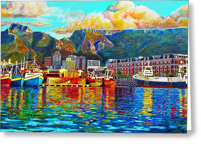 Cape Town Paintings Greeting Cards - Grace at the Table Greeting Card by Michael Durst