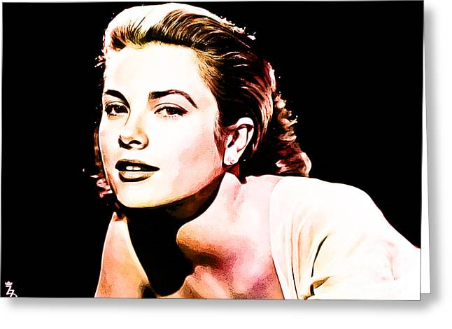 Princess Grace Greeting Cards - Grace Kelly Greeting Card by The DigArtisT