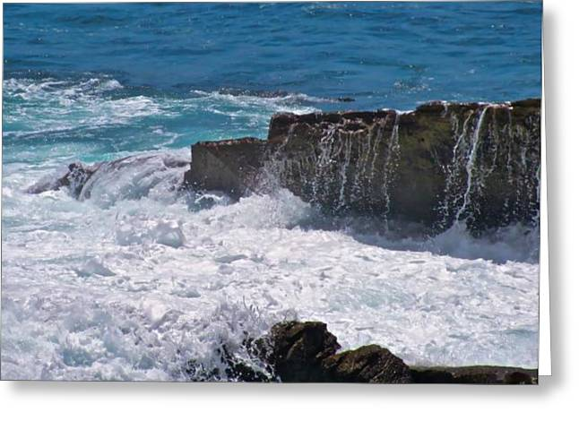 Recently Sold -  - Best Ocean Photography Greeting Cards - Grace Of The Waves Greeting Card by Debra     Vatalaro