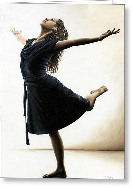 Black Dress Greeting Cards - Graceful Enlightenment Greeting Card by Richard Young