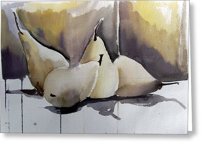 Desperate Housewives Greeting Cards - Graceful Pears Greeting Card by Mindy Newman