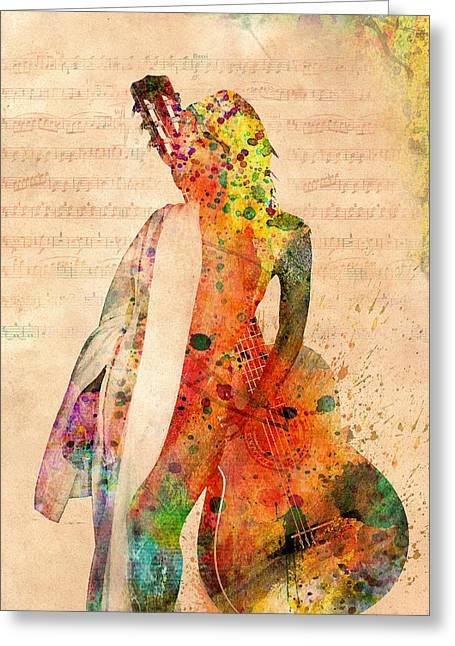 Jamming Greeting Cards - Gracias a la vida que me ha dado tanto Greeting Card by Mark Ashkenazi