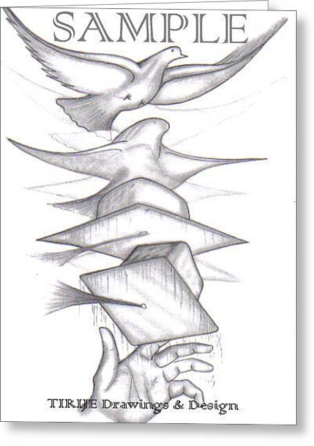 Refurbished Photos Drawings Greeting Cards - Graduation Freedom Dove Greeting Card by Rick Hill