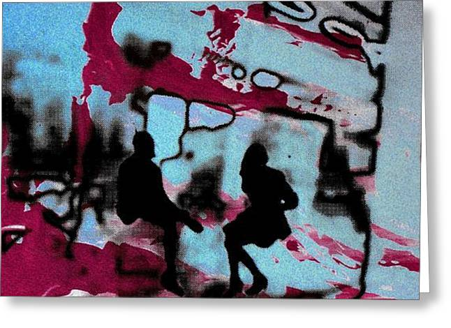 Ventana Greeting Cards - Graffiti - Urban art serigrafia Greeting Card by Arte Venezia