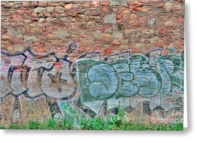Graffiti Greeting Card by Kathleen Struckle