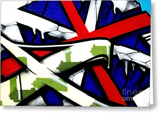 Teen Graffiti Greeting Cards - Graffiti red cross Greeting Card by Richard Thomas