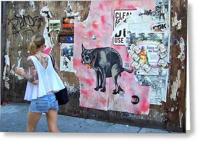 Graffiti Greeting Card by Steven Huszar