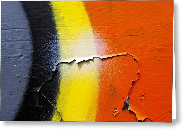 Graffiti Texture IV Greeting Card by Ray Laskowitz - Printscapes